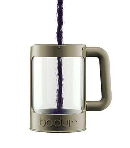 Bodum K11683-91 Bean Cold Brew Coffee Maker Set, 1.5 L/51 oz, White