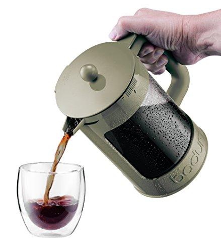 Cold Press Coffee Maker Reviews : Bodum K11683-91 Bean Cold Brew Coffee Maker Set, 1.5 L/51 oz, White